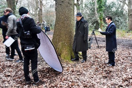 Editorial picture of 'The Krays: Dead Man Walking' on set filming, Highgate Woods, London, UK - 05 Feb 2018
