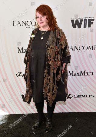 Stock Photo of Allison Anders arrives at the Women In Film Crystal and Lucy Awards at the Beverly Hilton Hotel, in Beverly Hills, Calif