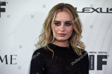Sonya Esman arrives at the Women In Film Crystal and Lucy Awards at the Beverly Hilton Hotel, in Beverly Hills, Calif