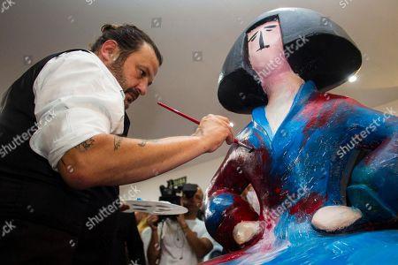Domingo Zapata painting