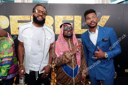 Kia Shine, Big Boi and Trevor Jackson