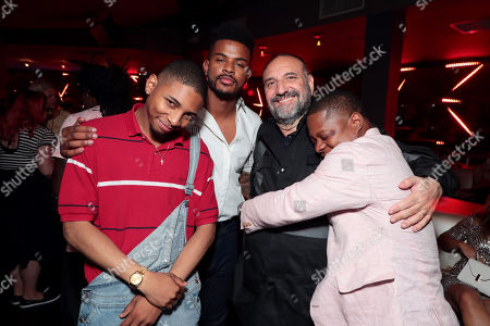 Kaalan Walker, Trevor Jackson, Joel Silver, Producer, and Jason Mitchell