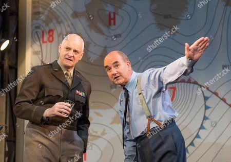 Malcolm Sinclair as General Eisenhower, David Haig as James Stagg