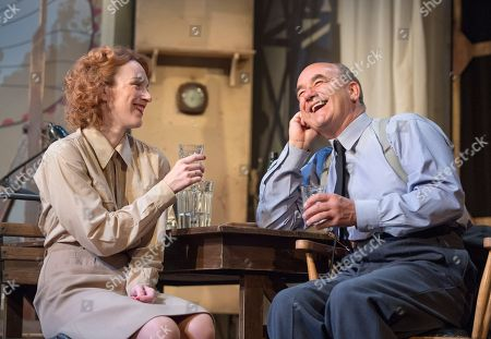 Stock Photo of Laura Rogers as Kay Summersby, David Haig as James Stagg