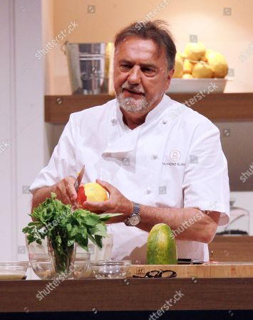 Raymond Blanc cooking in the Big Kitchen at BBC Good Food Show Summer