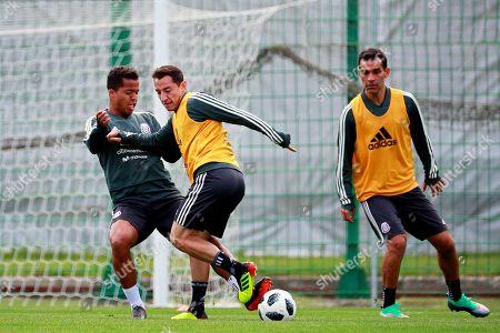Giovani dos Santos, Andres Guardado and Rafael Marquez
