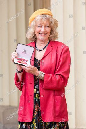 Deborah Moggach with OBE