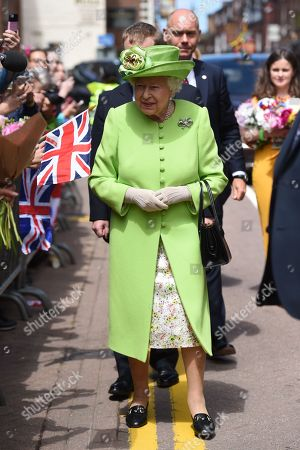 Queen Elizabeth II during her visit to Chester