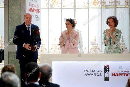 Queen Sofia, Magdalena Valerio and Vicente del Bosque