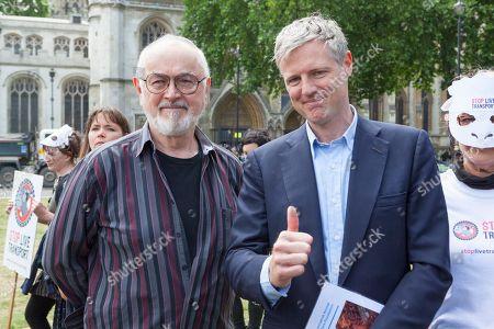 Stock Photo of Peter Egan (L) Zac Goldsmith MP (R)