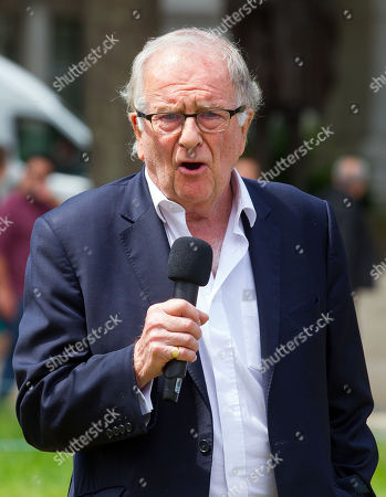 Sir Roger Gale, Member of Parliament for North Thanet in Kent, speaks at the event in Parliament square.
