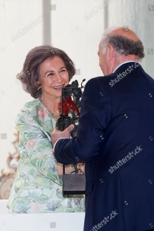 Former Queen Sofia and ex-coach and former Spanish footballer Vicente del Bosque.