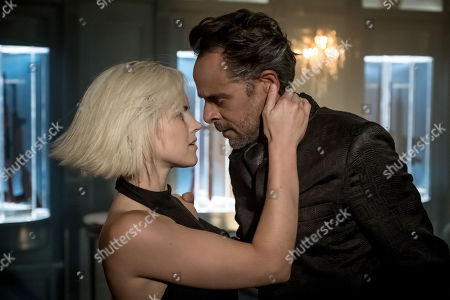 Stock Image of Erin Richards, Alexander Siddig