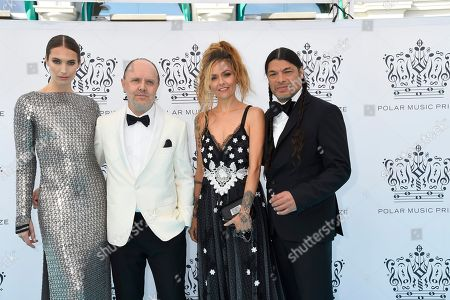 Jessica Miller, Lars Ulrich, Robert Trujillo, Chloe Trujillo