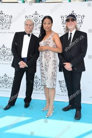 Alice Bah Kuhnke, Ian Paice and Roger Glover from Deep Purple