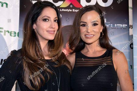 Stock Image of International adult stars Lisa Ann and Jenna Haze