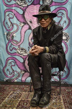 Editorial image of Sixto Diaz Rodriguez portrait session, Sideways Festival, Helsinki, Finland - 08 Jun 2018