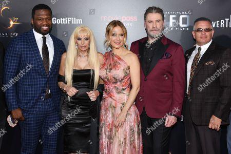 50 Cent, Victoria Gotti, Kelly Preston, John Travolta and John A Gotti