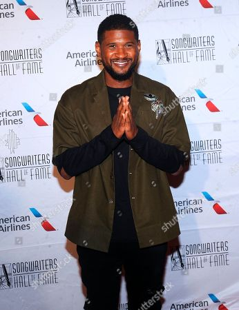 Usher Raymond IV, Usher. Usher arrives at the 49th annual Songwriters Hall of Fame Induction and Awards gala at the New York Marriott Marquis Hotel, in New York