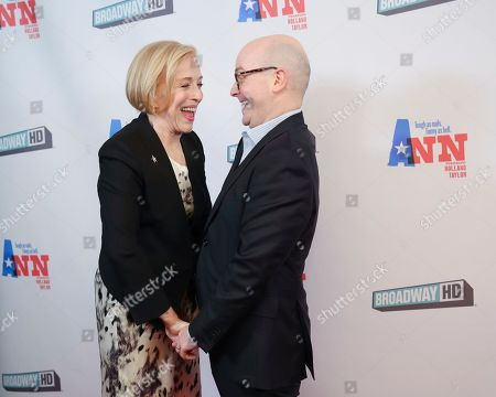 """Stock Picture of Holland Taylor, Benjamin Endsley Klein. Actress Holland Taylor, left, and director Benjamin Endsley Klein attend a special screening of """"Ann"""" at the Elinor Bunin Munroe Film Center, in New York"""
