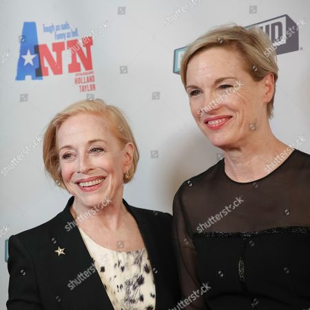 "Holland Taylor, Cecile Richards. Actress Holland Taylor, left, and Cecile Richards attend a special screening of ""Ann"" at the Elinor Bunin Munroe Film Center, in New York"
