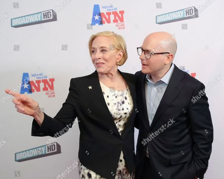 """Holland Taylor, Benjamin Endsley Klein. Actress Holland Taylor, left, and director Benjamin Endsley Klein attend a special screening of """"Ann"""" at the Elinor Bunin Munroe Film Center, in New York"""