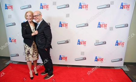 """Stock Image of Holland Taylor, Benjamin Endsley Klein. Actress Holland Taylor, left, and director Benjamin Endsley Klein attend a special screening of """"Ann"""" at the Elinor Bunin Munroe Film Center, in New York"""