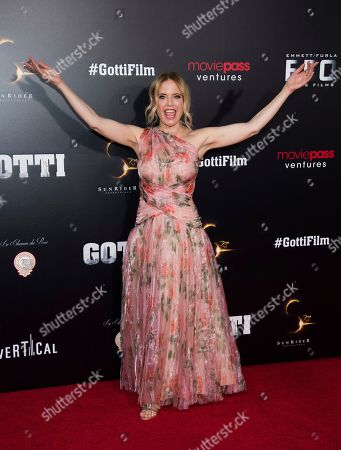 "Kelly Preston attends the premiere of ""Gotti"" at the SVA Theatre, in New York"