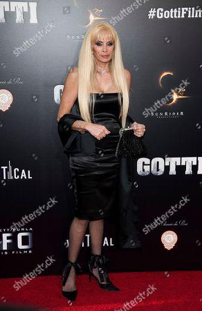 """Victoria Gotti attends the premiere of """"Gotti"""" at the SVA Theatre, in New York"""