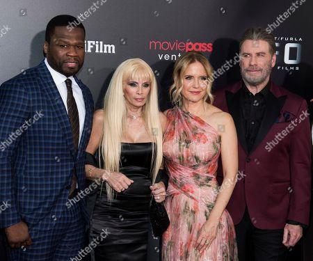 "John Travolta, Kelly Preston, Curtis Jackson, Victoria Gotti, 50 Cent. Curtis ""50 Cent"" Jackson, left, Victoria Gotti, Kelly Preston and John Travolta and attend the premiere of ""Gotti"" at the SVA Theatre, in New York"