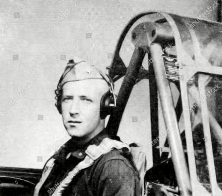 This 1943 photograph released by the U. S. Army Air Forces, the predecessor to today's Air Force, shows Second Lt. Robert Keown in the cockpit of a training aircraft in California. Keown, a Georgia native and Alabama resident who was killed in a crash in Papua New Guinea in 1944 during World War II, is buried, in Arlington National Cemetery in Washington, D.C