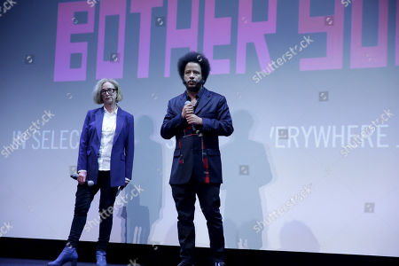 Stock Picture of Michelle Satter, Founding Director of the Sundance Institute Feature Film Program, Boots Riley, Director/Writer/Composer,