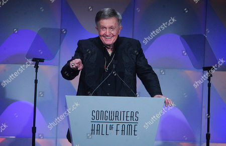 Bill Anderson speaks onstage during the 49th annual Songwriters Hall of Fame Induction and Awards gala at the New York Marriott Marquis Hotel, in New York