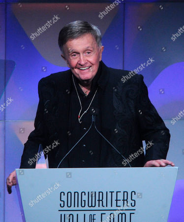 Stock Photo of Bill Anderson speaks onstage during the 49th annual Songwriters Hall of Fame Induction and Awards gala at the New York Marriott Marquis Hotel, in New York