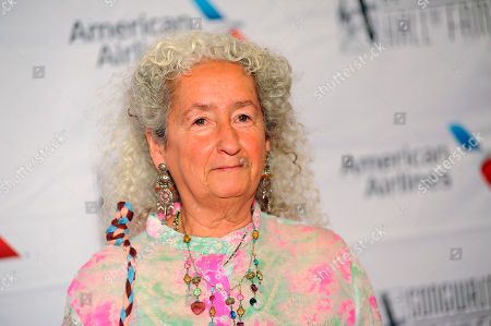 Nora Guthrie arrives during the 49th annual Songwriters Hall of Fame Induction and Awards gala at the New York Marriott Marquis Hotel, in New York