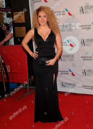Erika Ender arrives during the 49th annual Songwriters Hall of Fame Induction and Awards gala at the New York Marriott Marquis Hotel, in New York