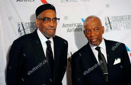 Kenneth Gamble, Leon A. Huff. Kenneth Gamble and Leon A. Huff arrive during the 49th annual Songwriters Hall of Fame Induction and Awards gala at the New York Marriott Marquis Hotel, in New York