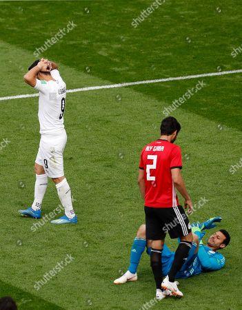 Luis Suarez and Mohamed El Shenawy
