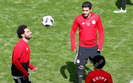 Mohamed Salah and Ayman Ashraf