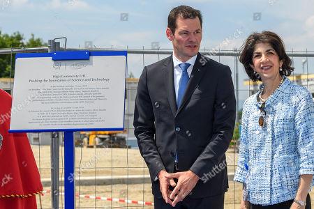 Fabiola Gianotti and Pierre Maudet