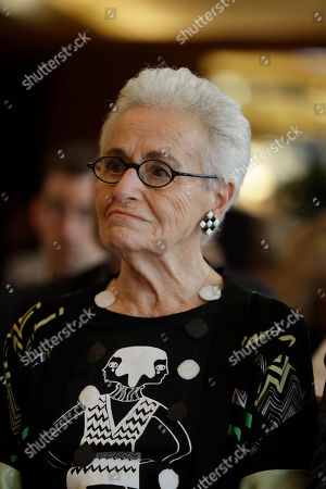 Rosita Missoni, attends a press conference in Milan, Italy
