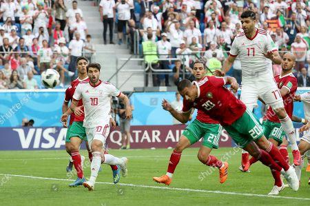 Aziz Bouhaddouz of Morocco