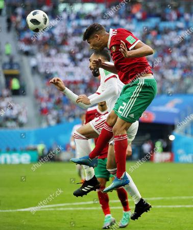Editorial image of Morocco v Iran, Group B, 2018 FIFA World Cup football match, Saint Petersburg Stadium, Russia - 15 Jun 2018