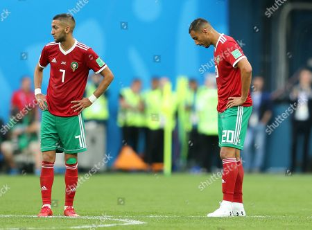 Aziz Bouhaddouz of Morocco looks dejected after scoring an own goal