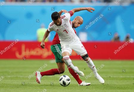 Karim El Ahmadi of Morocco and Masoud Shojaei of Iran