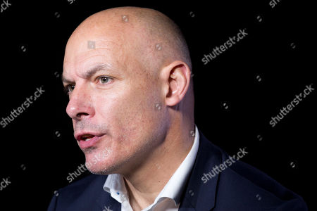 Howard Webb, general manager of the Professional Referee Organization, talks during an interview, in New York. The former Premier League referee worked at the 2010 and 2014 World Cups, including 2010 World Cup final