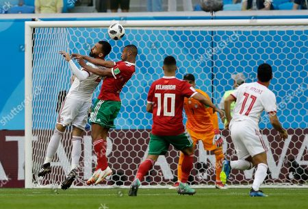 Editorial photo of Russia Soccer WCup Morocco Iran, St. Petersburg, Russian Federation - 15 Jun 2018