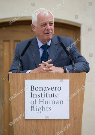 The Rt Hon the Lord Patten of Barnes, Chancellor of Oxford University at the  the Bonavero Institute of Human Rights, which is a research institute in the Faculty of Law, as well as the Hands Building at Mansfield College, where the Bonavero Institute is housed