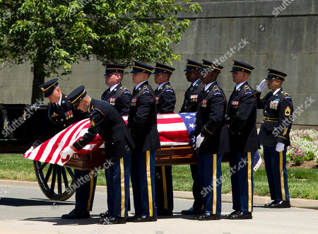 Editorial picture of Missing WWII Pilot Burial, Arlington, USA - 15 Jun 2018