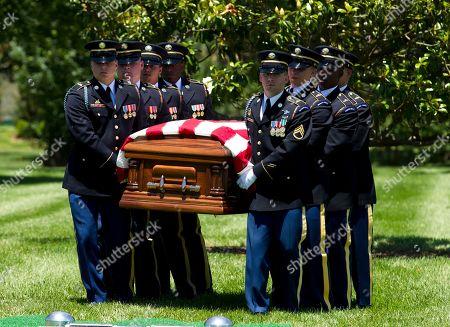 Editorial photo of Missing WWII Pilot Burial, Arlington, USA - 15 Jun 2018